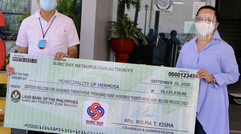 SBMA Releases P154 M LGU Shares From the First Half of  2020 Revenue Collections