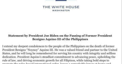 """PNoy served his country """"with integrity and selfless dedication""""- US Pres. Joe Biden"""